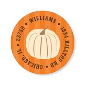Product Image For Autumn Squares Label