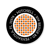 Product Image For Book Plate Halloween Circle Dots Label