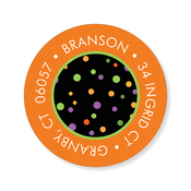 Product Image For Book Plate Halloween Dots Label