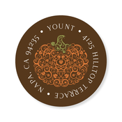 Product Image For Filigree Pumpkin Chocolate Label