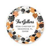 Product Image For Foliage Square Halloween Label