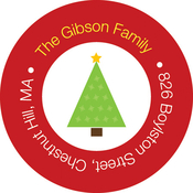 Product Image For Three Christmas Trees Label