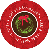Product Image For My Festive Wreath Label
