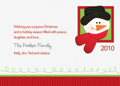 Product Image For Snowman's Postcard Invitation