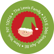Product Image For Santa and Elves Label