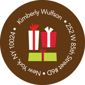 Product Image For Christmas Gifts (Chocolate) Label