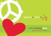 Product Image For Peace, Love, & Joy Invitation