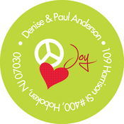 Product Image For Peace, Love, & Joy Label