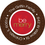 Product Image For Merry Ribbon Label