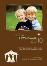Product Image For Nativity Set Photo Card