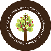Product Image For Cute Apple Tree Label