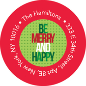 Product Image For Be Merry and Happy Label