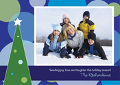 Product Image For My Christmas In Blue Photo Card