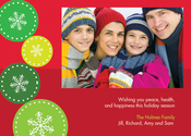 Product Image For Jumping Snowflakes Photo Card