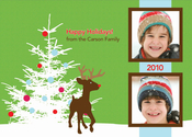 Product Image For Rudolph in the Snow Photo Card