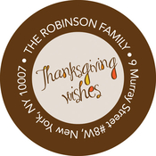 Product Image For Thanksgiving Wishes Label