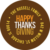Product Image For Thanksgiving Message Label