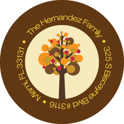 Product Image For Turkey and Trees Label