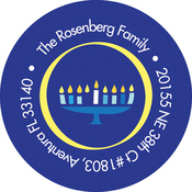 Product Image For Hanukkah Menorah Label