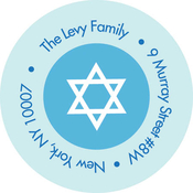 Product Image For Hanukkah Polka Dots Label