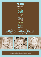 Product Image For New Year's Countdown Brown Digital Photo Card