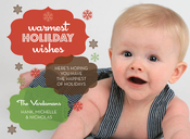 Product Image For Warmest Holiday Wishes Red Brown Green Digital Photo Card