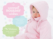 Product Image For Warmest Holiday Wishes Pastel Digital Photo Card