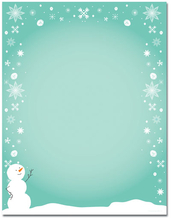 Product Image For Silly Snowman Paper