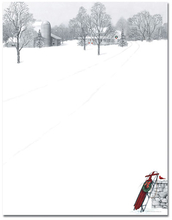 Product Image For Winter Scene & Sled Paper