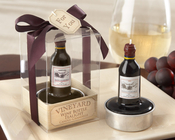 Product Image For Vintage Reserve Wine Bottle Tealight -Set of 4
