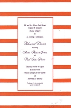 Product Image For Middy Stripe Red Border Invitation