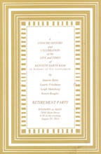Product Image For Stripe - Camel Border Invitation
