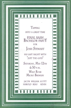Product Image For Stripe - Teal Border Invitation