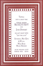 Product Image For Stripe - Russsett Border Invitation
