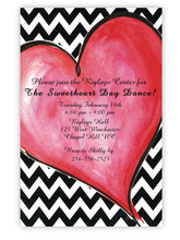 Product Image For Zippy Heart Invitation
