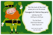 Product Image For Leprechaun Invitation
