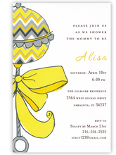 Product Image For Chevron Rattle Invitation