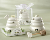 Product Image For Meant to Bee Ceramic honey Pot with Wooden Dipper