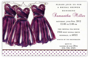 Product Image For Eggplant Maids Invitation