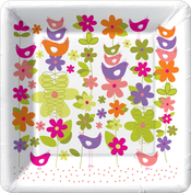 Product Image For Leaves and Chickadees Dessert Plate