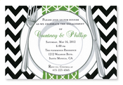 Product Image For Chevron Plate Invitation