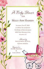 Product Image For Pink Carriage Invitation