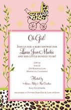 Product Image For Pink Wild Carriage Invitation