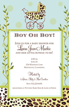 Product Image For Blue Wild Carriage Invitation