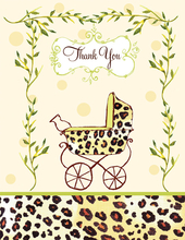 Product Image For Wild Baby Thank You Folded Note