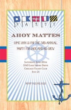 Product Image For Ahoy Mates Nautical Invitation