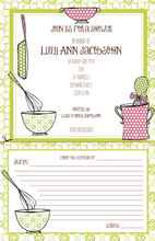 Product Image For Cookingware Recipe card invitation