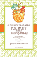 Product Image For Tropical Pineapple Drink Invitation