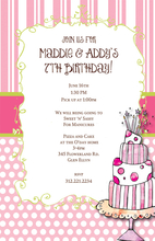 Product Image For Pink And Pretty Cake Invitation