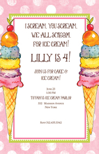 Product Image For Colorful Cones Invitation